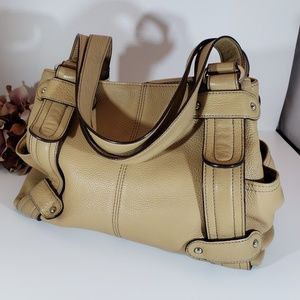 Tignanello Bone/Camel 100% Leather Hobo Bag